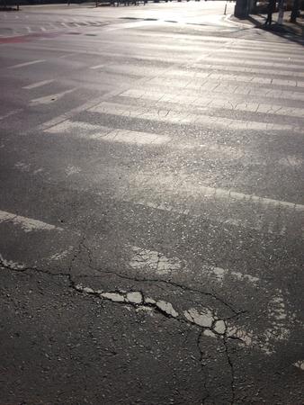 crosswalk: Old crosswalk