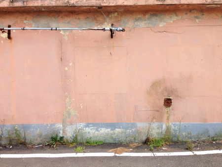 dilapidated wall: Old and dilapidated wall Stock Photo
