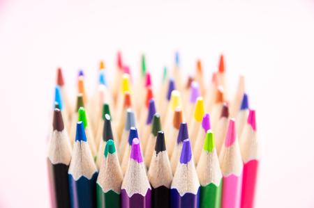 color pencils bundle; select-focus Stock Photo