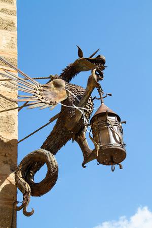 Dragon in wrought iron