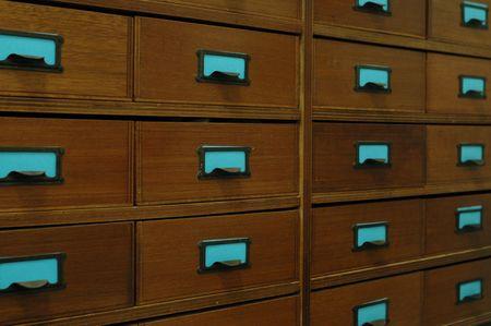 company secrets: deposito Cabinet d'epoca