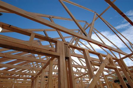 rafters: roof frame and rafters