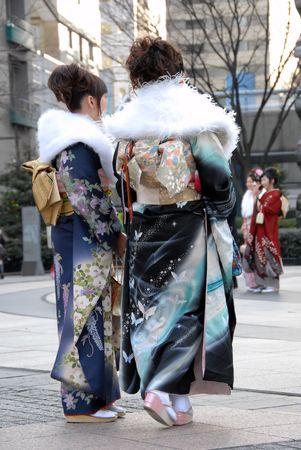 kabuki: young women in kimono