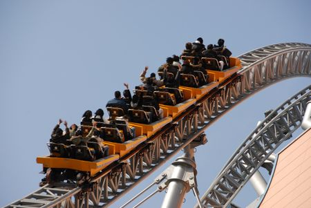 theme park: rollercoaster ride