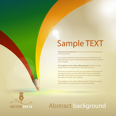 Vector abstract background for sample text Illustration
