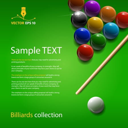 Vector billiards collection Vector