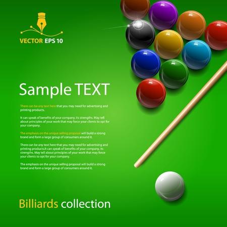 billiards: Vector billiards collection