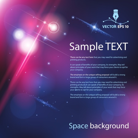 Vector space background for sample text Illustration