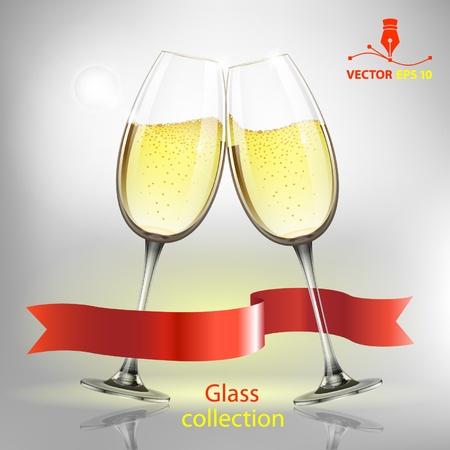 champagne bubbles: Champagne glass