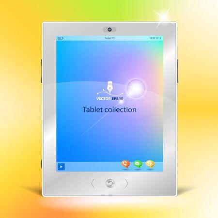 multimedia background: Tablet Illustration
