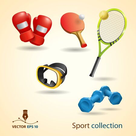 Sport   fitness icons set  Vector format  Illustration