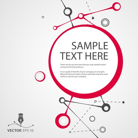 Abstract circles vector background for sample text