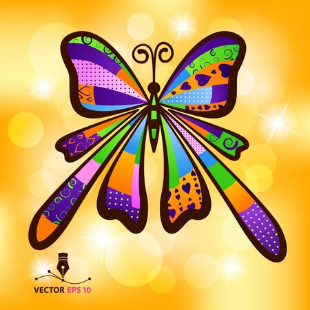 Vector Illustration of detailed coloured butterfly on a white background  Vector format  EPS 10