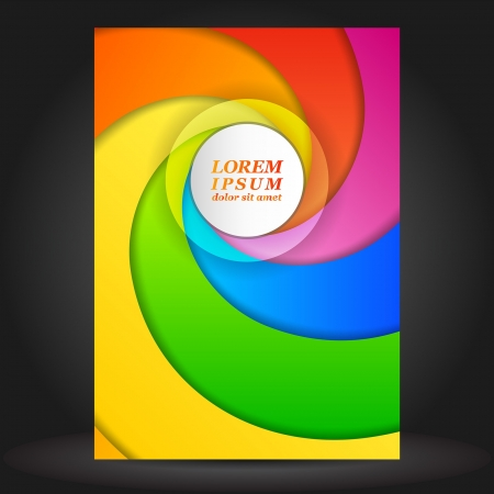 publisher: Vector color brochure template design with spiral