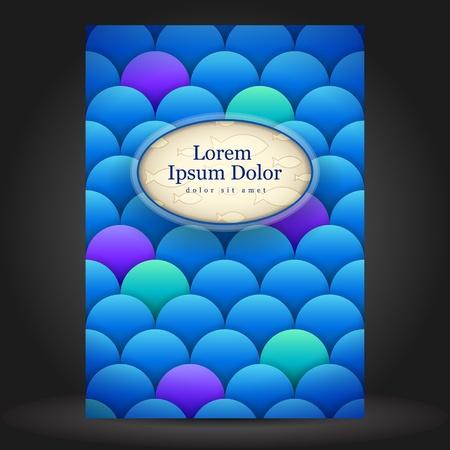 squama: Vector fish brochure template design with squama  Illustration
