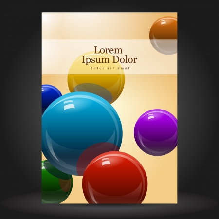 Vector chemical brochure template design with molecule Illustration
