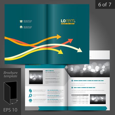 vector sample: Vector blue brochure template design with color arrows
