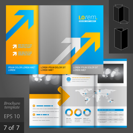 arrows vector: Business vector brochure template design with arrows