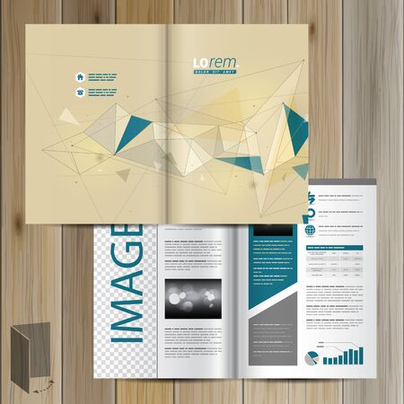 schemes: Drawing brochure template design with figures and schemes. Cover layout