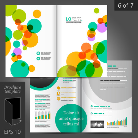 abstract background vector: Colorful vector creative brochure template design with art round elements Illustration