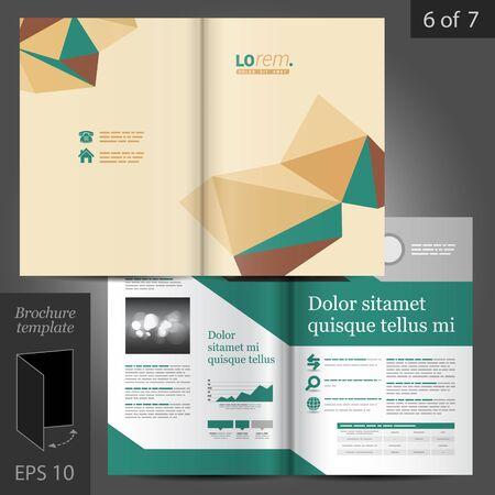design vector: Vector brochure template design with origami elements