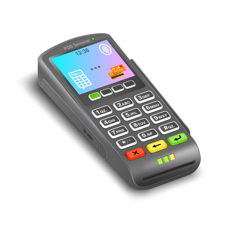 POS Terminal on a white background