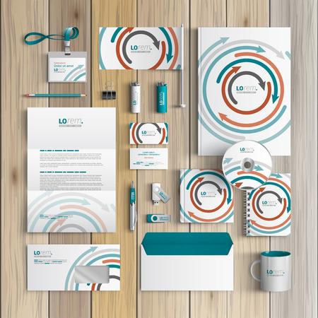 Diseño De Identidad Corporativa De Plantilla Blanca Con Elementos De ...