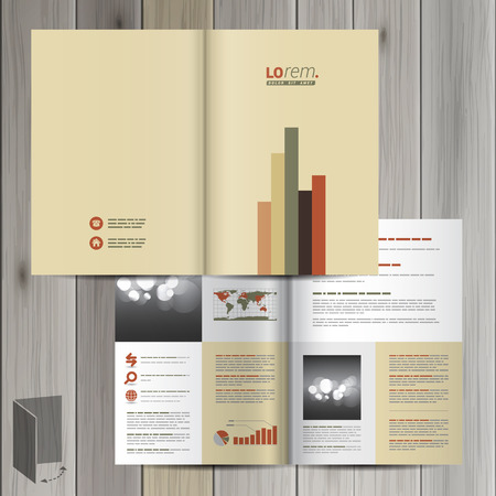 flyer template: Finance brochure template design with color infographic. Cover layout Illustration