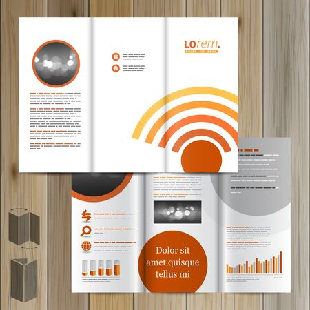 radio wave: Technological brochure template design with radio wave. Cover layout