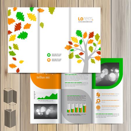 Diseño Blanco Plantilla De Folleto De Primavera Con El árbol De ...