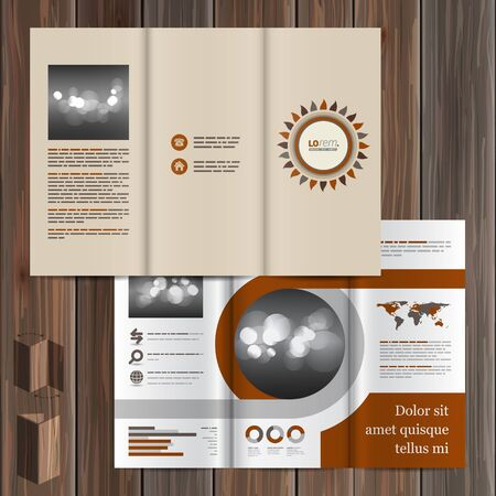 background kaleidoscope: Folk brochure template design with flower. Cover layout