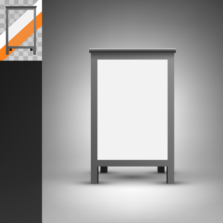 foldable: Template for advertising and corporate identity. Foldable advertising board. Blank mockup for design. Vector white object