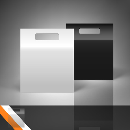 Template for advertising and corporate identity. Package. Blank mockup for design. Vector white object Illustration