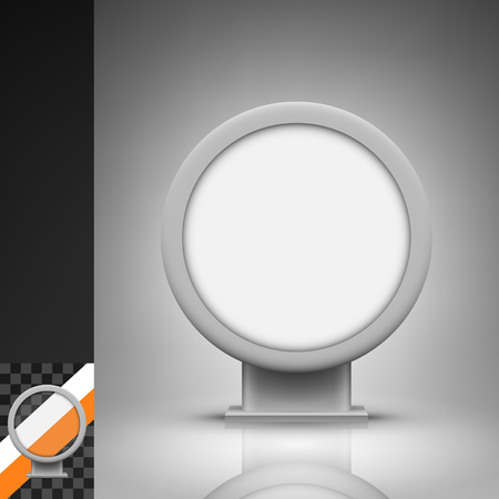 citylight: Template for advertising and corporate identity. Round citylight. Blank mockup for design. Vector white object