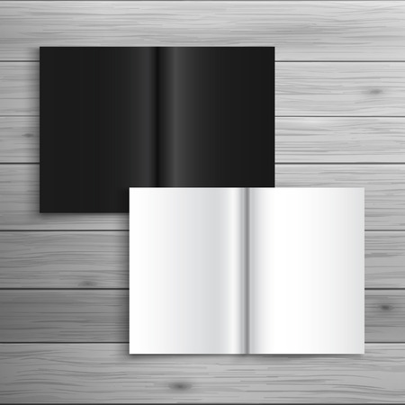 paper folding: Template for advertising and corporate identity. Folded brochure. Blank mockup for design. Vector white object