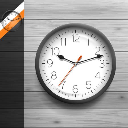 reloj: Plantilla para la publicidad e identidad corporativa. Reloj redondo cl�sico. Maqueta en blanco para el dise�o. Vector blanco objeto Vectores