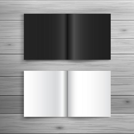 cuadrados: Plantilla para la publicidad e identidad corporativa. folleto plegado de formato cuadrado. maqueta en blanco para el diseño. Vector objeto blanco Vectores