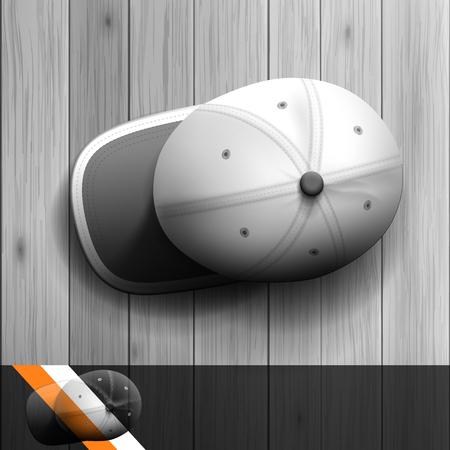 Plantilla para la publicidad e identidad corporativa. Gorra de beisbol. maqueta en blanco para el diseño. Vector objeto blanco Foto de archivo - 48319754