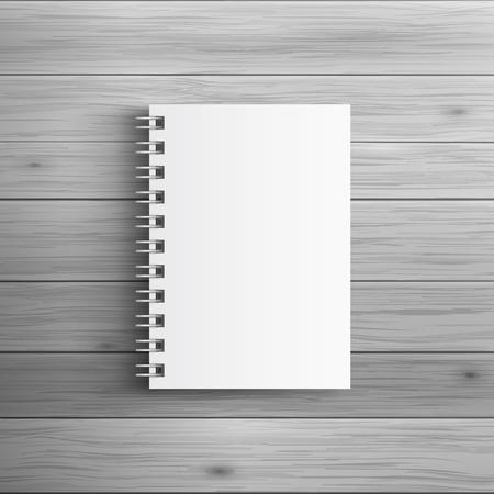 Modèle pour la publicité et de l'identité d'entreprise. bloc-notes en spirale réaliste. mockup Blank pour la conception. Vecteur objet blanc Vecteurs