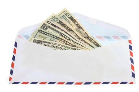 endow: money in envelope Stock Photo