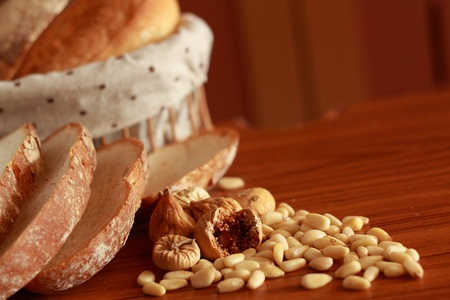 Bread and nuts Stock Photo - 13407906