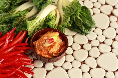 Kimchi and vegetables