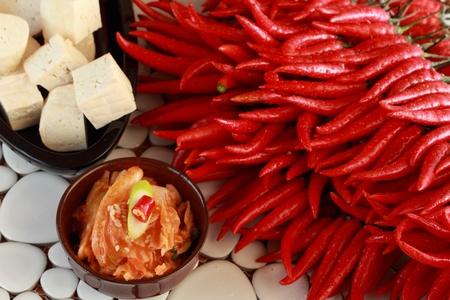 Kimchi piment et le tofu Banque d'images - 13506745