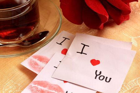 I love you and rose Stock Photo - 13976004