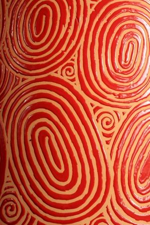 pottery: Textured fingerprint Stock Photo