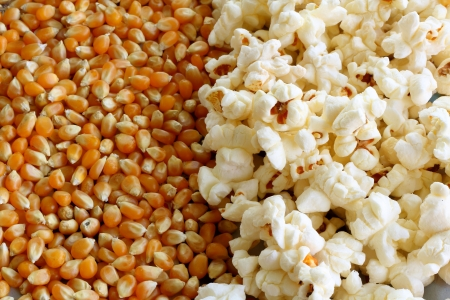 snacking: Popcorn and kernels