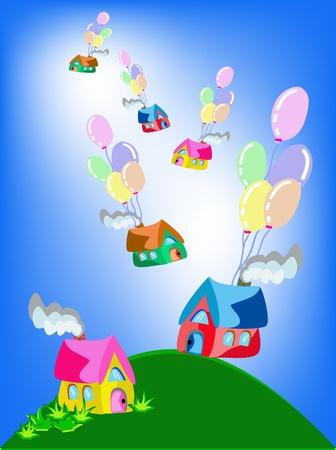 Home balloons  Stock Vector - 15930374