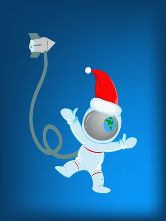 Astronaut in christmas day Stock Vector - 16013093