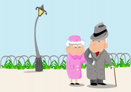 older woman smiling: Grandparents