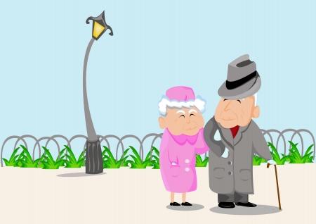 Grands-parents Banque d'images - 16013088